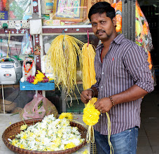 Photo: Year 2 Day 114 - Making Flower Garlands for Diwali Celebrations