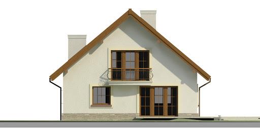 Dom przy Cyprysowej 43 - Elewacja tylna
