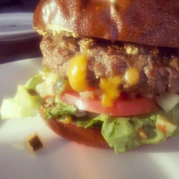 Smoked Cheddar Stuffed Burgers Recipe
