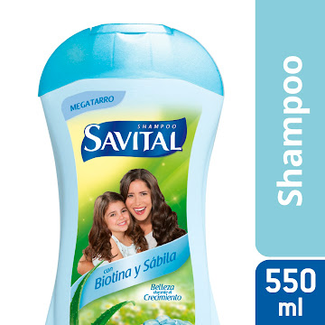 SHAMPOO SAVITAL BIOTINA   Y SÁBILA EXTRAFAMILIAR X550ML
