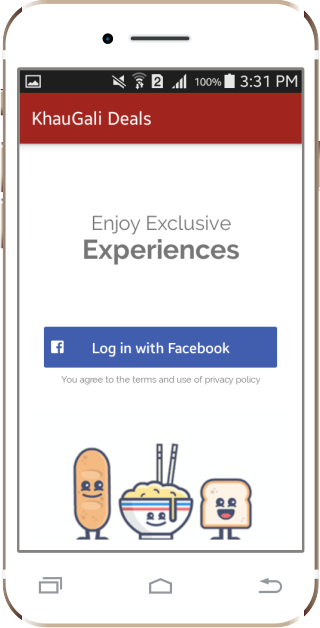 KhauGaliDeals-Restaurant Deals- screenshot