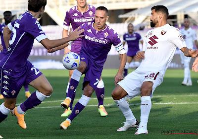 Gros coup dur pour Franck Ribéry sorti lors de Lazio-Fiorentina