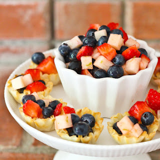 Mini Patriotic Fruit Tarts
