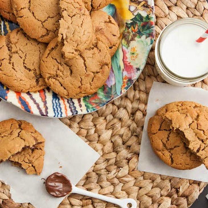 Nutella Stuffed Peanut Butter Cookies {Gluten Free} Recipe