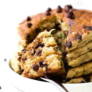 Fluffy Low Carb Keto Zucchini Bread Pancakes (Paleo, Vegan).