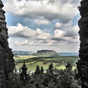 Blick auf den Lilienstein by Justus Böttcher - Landscapes Mountains & Hills