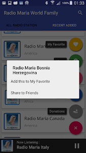 Radio Maria World Family screenshot 5