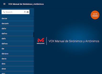 Vox Spanish Language Thesaurus- screenshot thumbnail