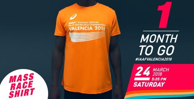 Men's Shirt Valencia World Half Marathon Championships