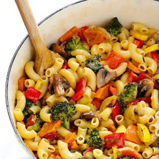 Roasted Vegetable Macaroni & Cheese.
