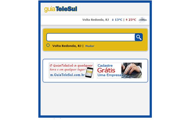 MiniSite do GuiaTeleSul