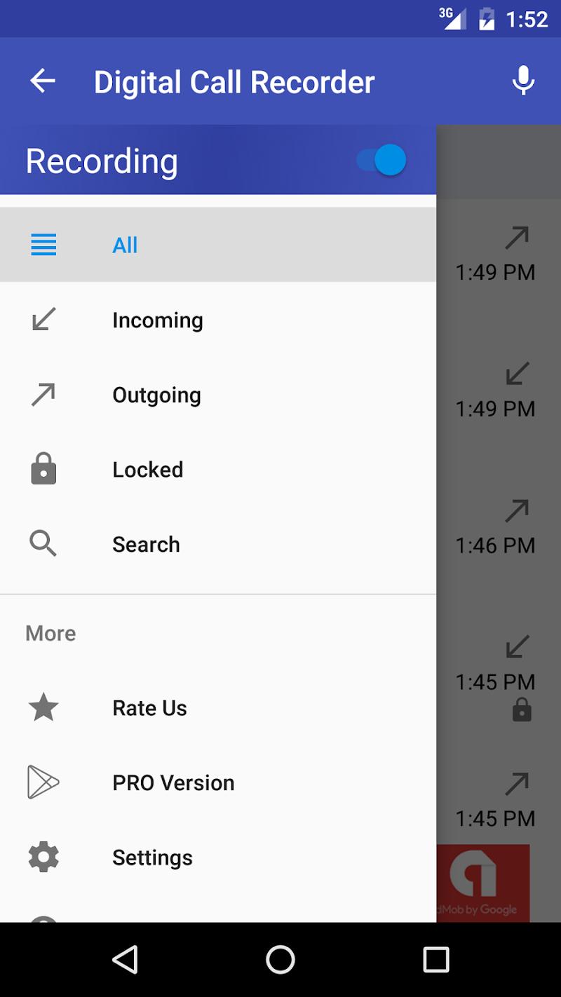 Digital Call Recorder 3 Screenshot 2