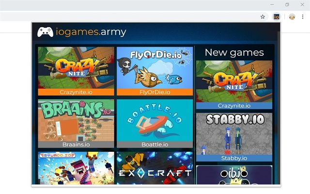 iogames.army Browser Extension