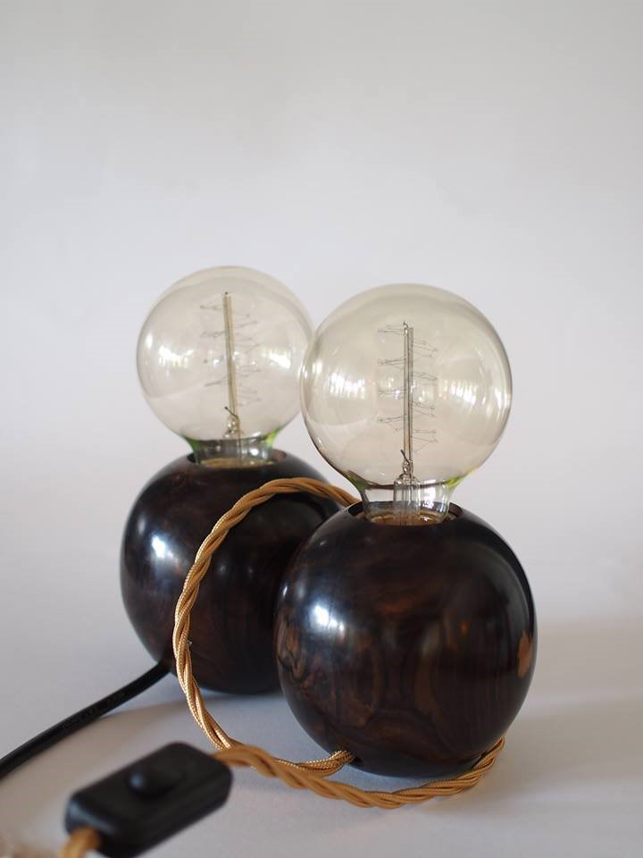 Bubble lamps from Ruum Gallery.