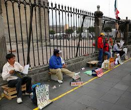 Photo: Plaza Mayorilla oli työvoimaa tarjolla tänäkin vuonna