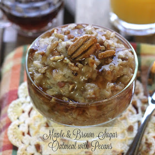 Maple and Brown Sugar Oatmeal with Pecans