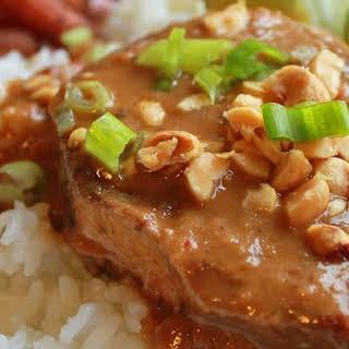 Slow Cooker Thai Peanut Pork.