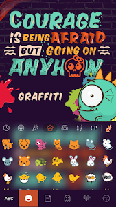 Graffiti Kika Keyboard Theme – If you love Hip-hop / Rap