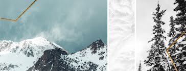 Snowy Mountains & Trees - Facebook Template
