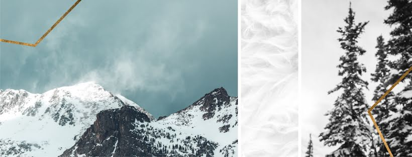 Snowy Mountains & Trees - Facebook Page Cover Template