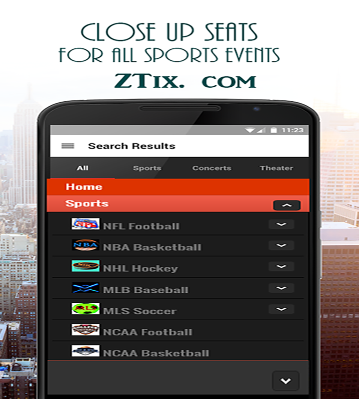 ZTix Tickets- screenshot
