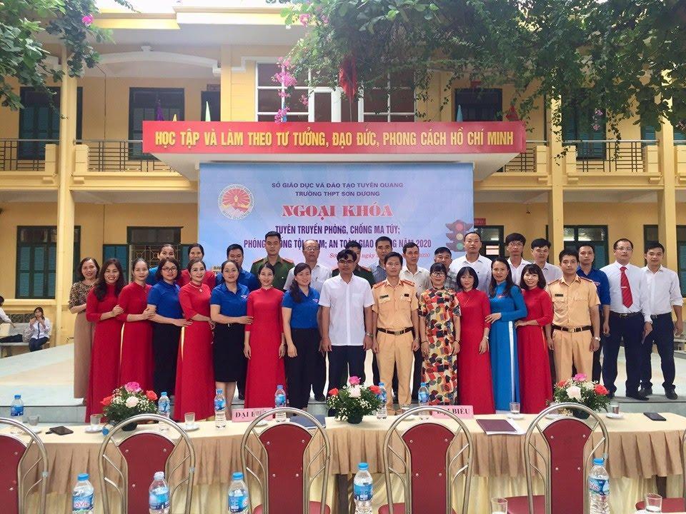 Trường THPT Sơn Dương tổ chức tuyên truyền phòng, chống ma túy; phòng, chống tội phạm; an toan giao thông năm 2020