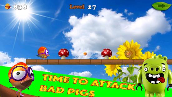 Angry birds The run - náhled