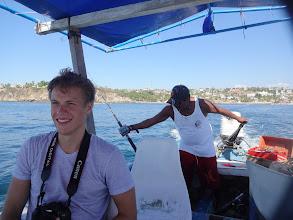 Photo: Zaplatili jsme mu 1100 pesos za 3hodiny na moři. Slíbil nám, že uvidíme velryby, chytíme rybu a budem mít možnost plavat s želvou.