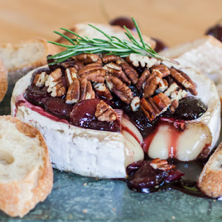 Baked Brie with Honeyed Cherries & Toasted Pecans