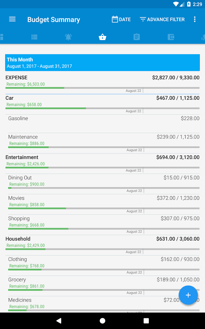 Bluecoins- Finance, Budget, Money, Expense Tracker Screenshot 19