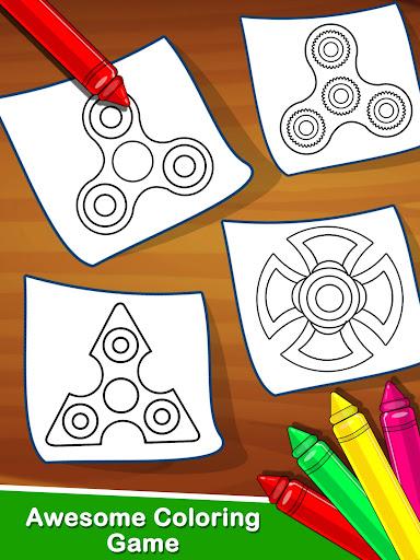 Fidget Spinner Coloring Book For Kids 1.0 screenshots 3