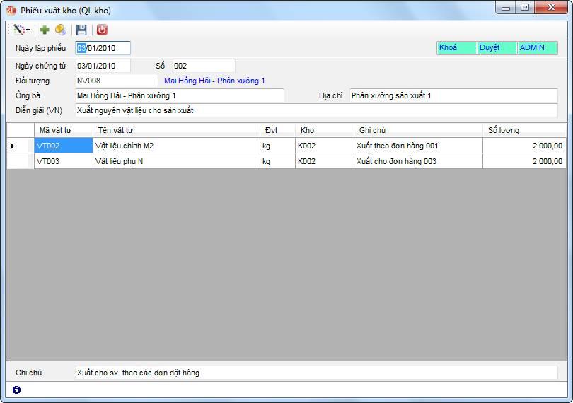 Quản lý kho phần mềm kế toán 3tsoft