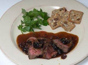 Pan Seared Cherry Venison Recipe