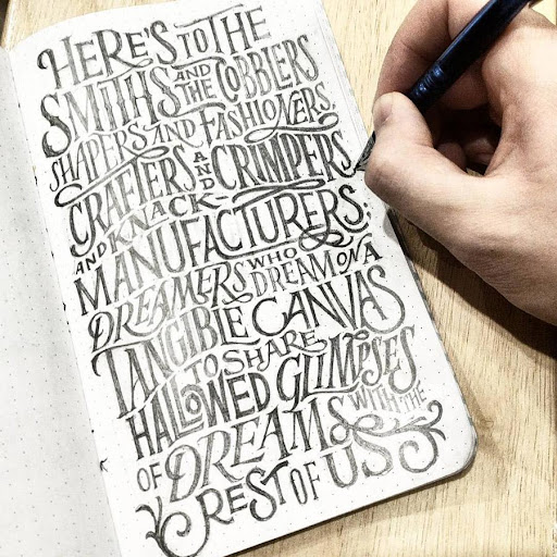 Hand Lettering Ideas App Report on Mobile Action - App Store