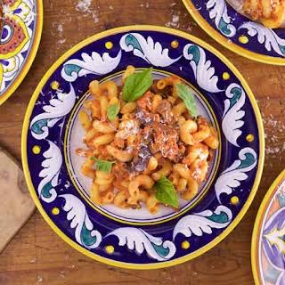 Spicy Pasta alla Norma with Sausage.