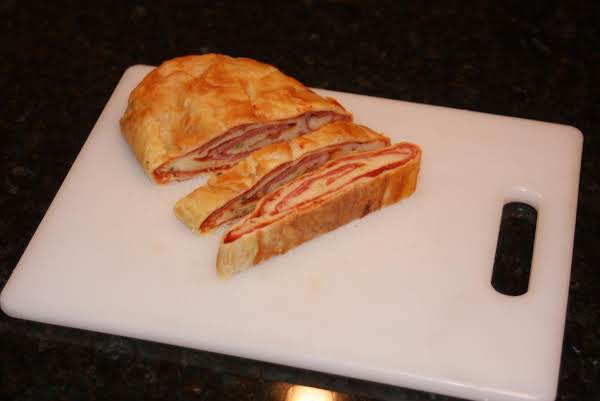 Stromboli With Italian Meat And Cheese