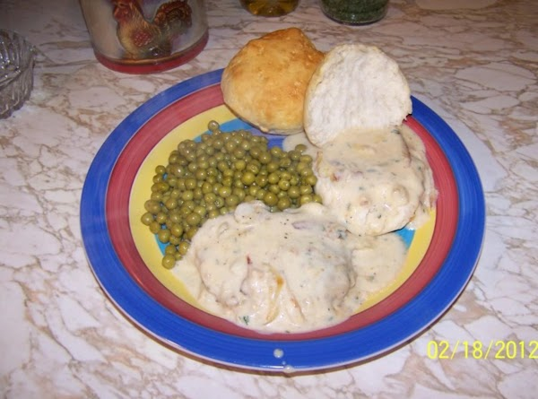 Start your biscuits now . After 12 minutes plate your chops on top of...