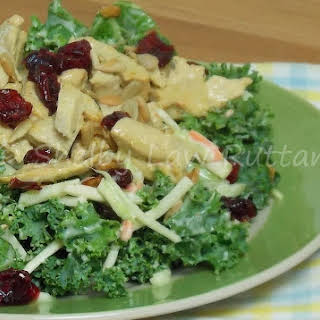 Broccoli Slaw and Kale Salad with Sweet and Spicy Dressing.