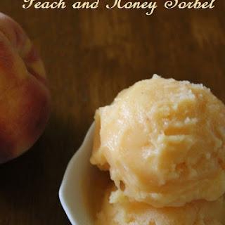 Peaches and Honey Sorbet.