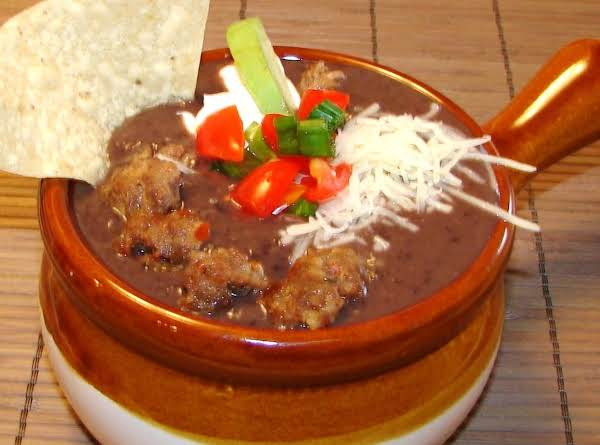 Warm The Spirits With A Loaded Black Bean And Spicy Sausage Chili.