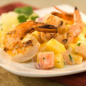 Tropical Grilled Shrimp Cocktail