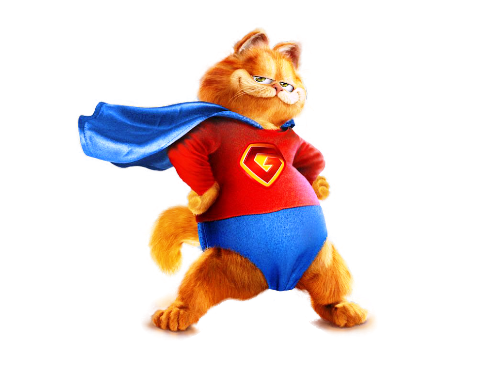 Garfield Superman I4SbgKJ007bLkOi0-6nI
