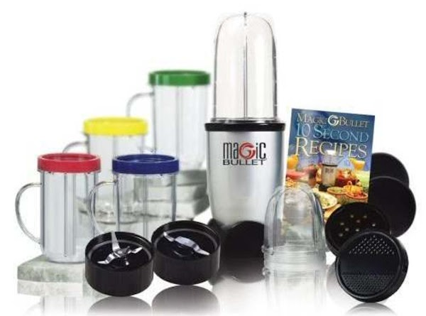 "With a ""Magic Bullet"" use the taller container and the 4 blade blender top."