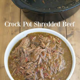 Crock Pot Shredded Beef.