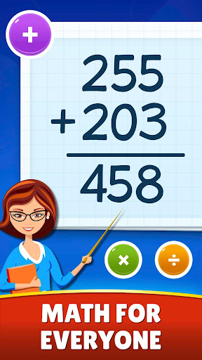 Math Games - Addition, Subtraction, Multiplication apktram screenshots 1