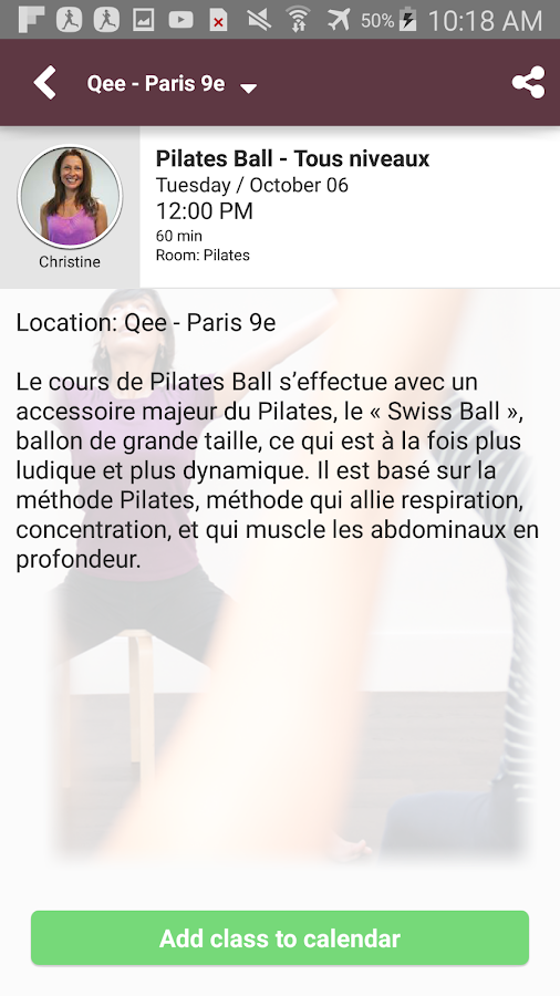 Qee, Yoga, Pilates ... – Capture d'écran