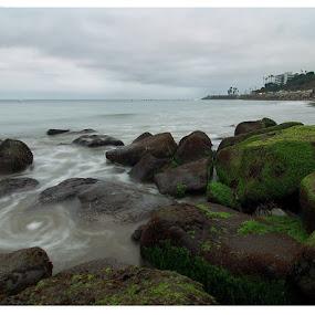 Vortex by Jerzy Szablowski - Landscapes Beaches ( water, vortex, blue, california, green, long exposure, landscape, olympus )