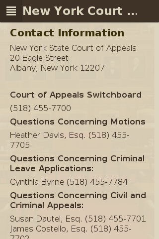 Court of Appeals- screenshot