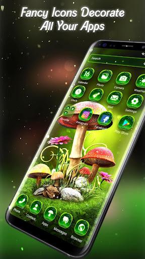 3D Nature Forest Mushroom Live Wallpaper &Launcher screenshots 3