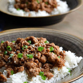 Korean Ground Turkey & Rice Bowls.